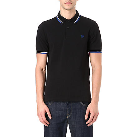 FRED PERRY Slim-fit twin tip polo shirt (Black