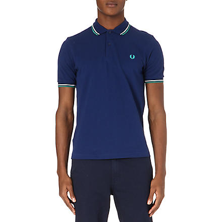 FRED PERRY Slim-fit twin-tip polo shirt (Navy