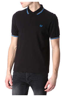 FRED PERRY Slim-fit twin–tipped polo shirt