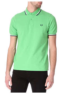 FRED PERRY Slim-fit twin-tipped polo shirt