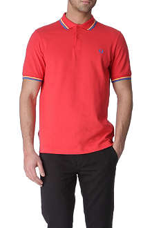 FRED PERRY Slim-fit tipped polo shirt