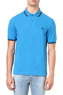 FRED PERRY Slim-fit twin tipped polo shirt