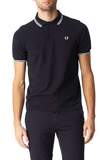 FRED PERRY Two colour twin tipped polo shirt