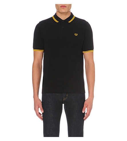 FRED PERRY Twin tipped polo shirt (Black/gold