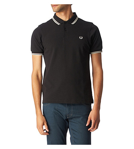 FRED PERRY Twin tipped polo shirt (Black/white
