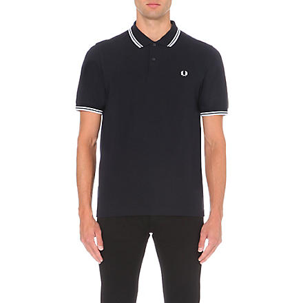 FRED PERRY Twin tipped polo shirt (Navy/white