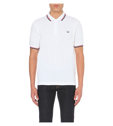 FRED PERRY Twin tipped polo shirt (Red/blue