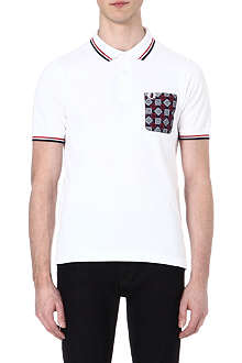 FRED PERRY Medallion cotton polo-shirt