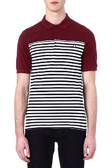 FRED PERRY Block stripe polo shirt