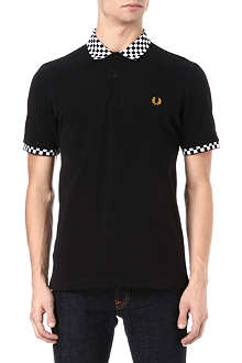 FRED PERRY Check collar polo shirt