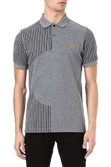 FRED PERRY Stripe circle silhouette polo shirt