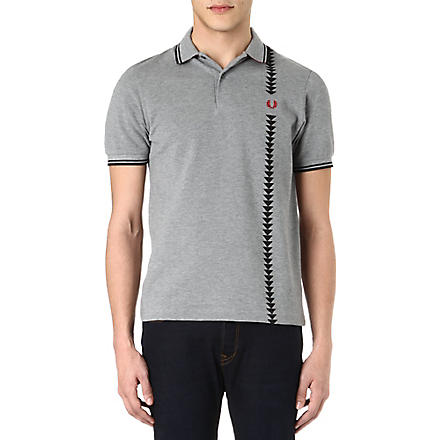 FRED PERRY Arrow detail polo shirt (Steel