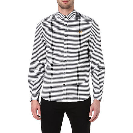 FRED PERRY Bold striped shirt (White