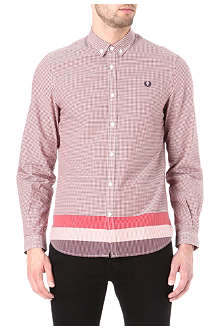 FRED PERRY Gingham block stripe shirt