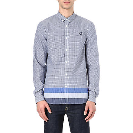 FRED PERRY Gingham block stripe shirt (Regal