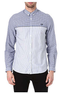 FRED PERRY Half gingham shirt