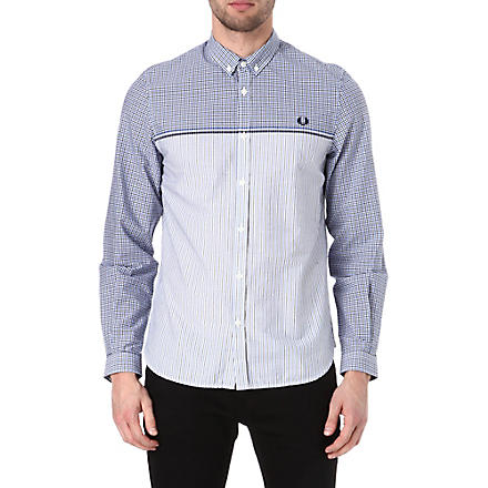 FRED PERRY Half gingham shirt (Regal
