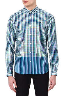 FRED PERRY Tipped gingham shirt