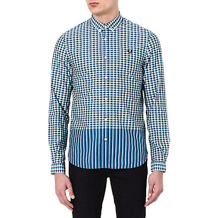 FRED PERRY Tipped gingham shirt (Privet