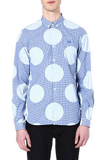 FRED PERRY Polka gingham shirt