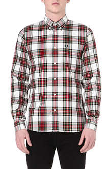 FRED PERRY Madras tartan cotton shirt