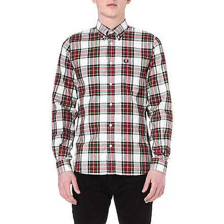 FRED PERRY Madras tartan cotton shirt (Porcelin