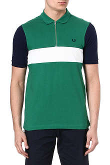 FRED PERRY Bradley Wiggins colourblock polo shirt