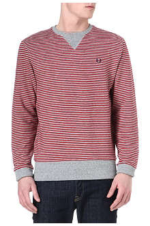 FRED PERRY Striped cotton sweatshirt