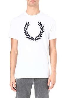 FRED PERRY Laurel appliqué t-shirt