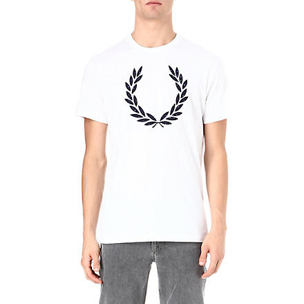 FRED PERRY Laurel appliqué t-shirt (White