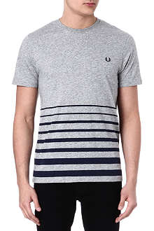 FRED PERRY Blocked stripe t-shirt
