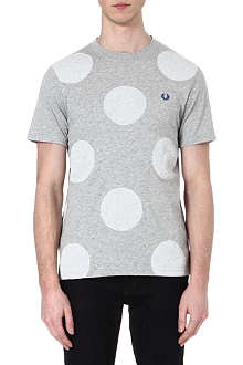 FRED PERRY Bold polka dot print t-shirt