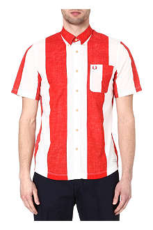 FRED PERRY Holiday short-sleeved striped shirt