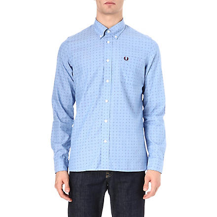 FRED PERRY Polka-dot shirt (Turquoise
