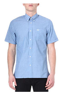 FRED PERRY Double dot cotton shirt
