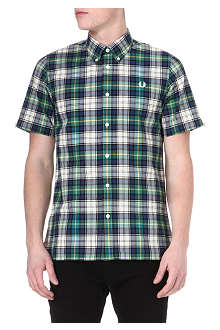 FRED PERRY Spring tartan cotton shirt