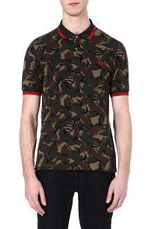 FRED PERRY Camo on the run polo shirt