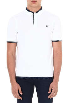 FRED PERRY Polka-dot trimmed polo shirt