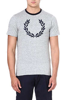 FRED PERRY Polka-dot laurel t-shirt