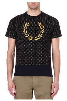 FRED PERRY Laurel Wreath polka-dot t-shirt
