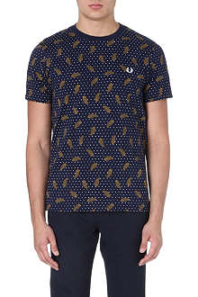 FRED PERRY Paisley and polka dot t-shirt