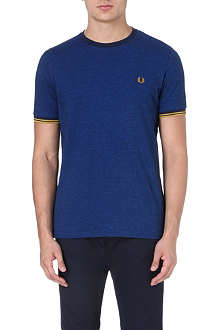 FRED PERRY Fitted cotton t-shirt