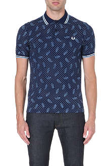FRED PERRY Drake's Archive paisley polo shirt