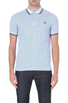FRED PERRY Drake's Archive medallion polo shirt