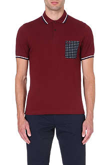 FRED PERRY Drake's Archive floral-pocket polo shirt
