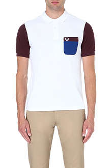 FRED PERRY Tricot-pocket piqué polo shirt