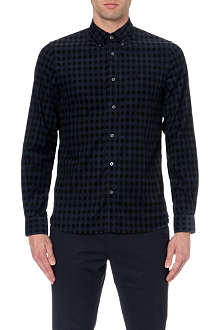 FRED PERRY Gingham corduroy shirt