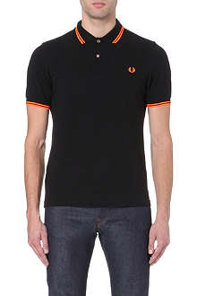 FRED PERRY Soho neon cotton-piqué polo shirt
