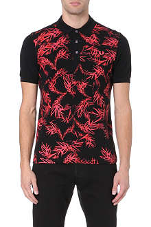 FRED PERRY Neon laurel wreath polo shirt