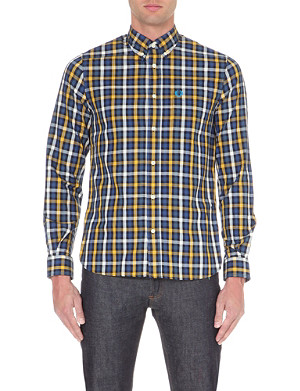 FRED PERRY Checked cotton shirt